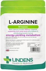 Lindens Health + Nutrition L-Arginine 500mg 90 Capsules
