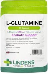 Lindens L-Glutamine 500mg 90 Capsules