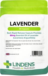 Lindens Health + Nutrition Lavender (Essential Oil) 80 mg 60 Capsules
