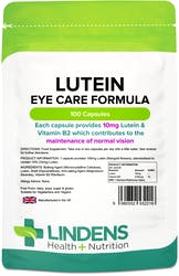 Lindens Health + Nutrition Lutein 10mg (Marigold Extract) 100 Capsules
