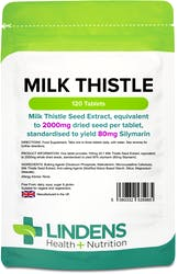 Lindens Milk Thistle Seed Extract 100mg (2000mg eq) 120 Tablets