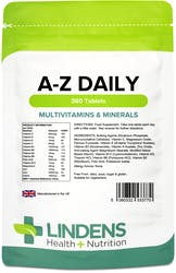 Lindens Health + Nutrition Multivitamins A-Z Daily 360 Tablets | 360