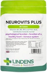 Lindens Neurovits Plus (B1, B6, B12, Folic Acid) 90 Tablets