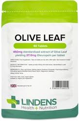 Lindens Health + Nutrition Olive Leaf (27mg oleuropein) 60 Tablets