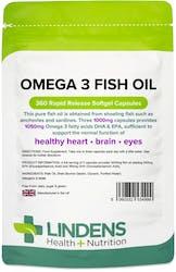 Lindens Omega 3 Fish Oil (30% DHA/EPA) 360 Capsules