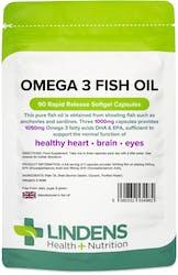Lindens Omega 3 Fish Oil (30% DHA/EPA) 90 Capsules