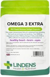 Lindens Omega 3 Fish Oil Extra 360 Capsules