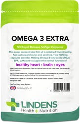 Lindens Omega 3 Fish Oil Extra 90 Capsules