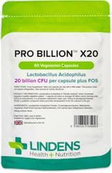 Lindens Health + Nutrition Pro Billion x20 20 Bn CFU 60 VegCaps