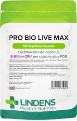 Lindens Pro Bio Live Max 6BN 100 Veg Capsules