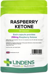 Lindens Raspberry Ketone 250mg 60 Capsules