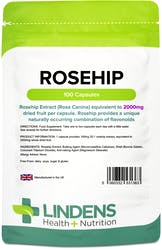 Lindens Health + Nutrition Rosehip 2000mg 100 Capsules