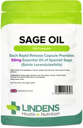 Lindens Sage (Essential Oil Caps 50mg) 100 Capsules