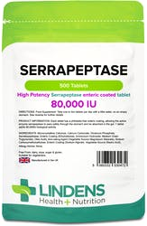 Lindens Serrapeptase 80,000IU 500 Tablets