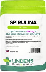 Lindens Spirulina 500mg 90 Tablets