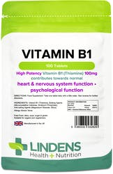 Lindens Health + Nutrition Vitamin B1 100mg 100 Tablets