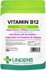 Lindens Vitamin B12 1000mcg Sublingual 100 Tablets