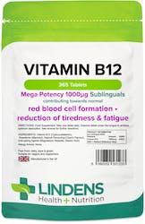 Lindens Health + Nutrition Vitamin B12 1000mcg Sublingual 365 Tablets