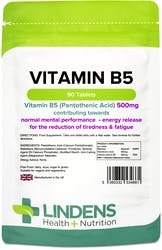 Lindens Vitamin B5 500mg 90 Tablets