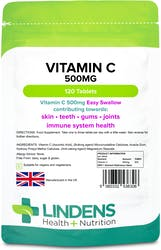 Lindens Health + Nutrition Vitamin C 500mg 120 Tablets