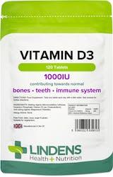 Lindens Vitamin D3 25mcg (1000 IU) 120 Tablets