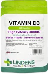 Lindens Vitamin D3 3000 IU 120 Capsules