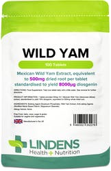 Lindens Wild Yam 500mg 100 Tablets