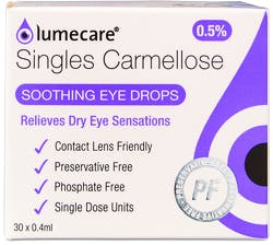 Lumecare Carmellose Eye Drops 30x0.4ml Single Units