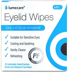 Lumecare Daily Eyelid Wipes 20s'