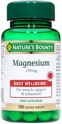 Nature's Bounty Magnesium 250mg 100 Tablets