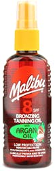Malibu Bronzing Tanning Oil Spray SPF8 with Argan Oil 100ml