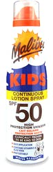 Malibu Kids Sunscreen Spray SPF50 175ml