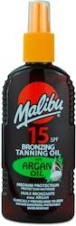 Malibu Tanning Oil Argan Spf 15 200ml