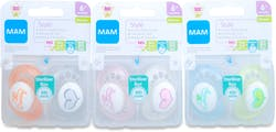 Mam Style 2 Silicone Soothers 6+ Months
