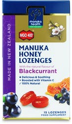 Manuka Health Honey Lozenges Blackcurrant 15s