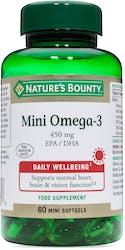 Nature's Bounty Mini Omega-3 450mg 60 Softgels