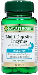 Nature's Bounty Multi-Digestive Enzymes with Betaine Hydrochloride 90 Caplets