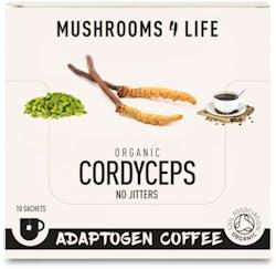 Mushrooms 4 Life Organic Cordyceps Power Coffee 10 Sachets