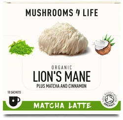 Mushrooms 4 Life Organic Lion's Mane Matcha Latte 10 Sachets