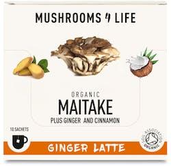 Mushrooms 4 Life Organic Maitake Ginger Latte 10 Sachets