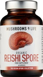 Mushrooms 4 Life Organic Reishi Spore 60 Capsules