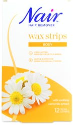Nair Body Wax Strips with Camomile Extract 12 Strips