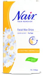 Nair Facial Wax Strips with Camomile Extract 12 Strips
