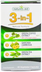 Natures Aid 3-in-1 Natural Formula 60 Capsules