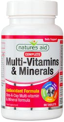 Nature's Aid Complete Multi-Vitamins & Minerals 90 Tablets