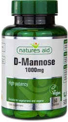 Natures Aid D-mannose 1000mg 60 Tablets