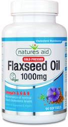 Natures Aid Flaxseed Oil 1000mg 90 Capsules