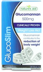 Natures Aid GlucoSlim Glucomannan 500mg Weight Loss aid 120 Capsules