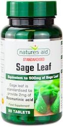Natures Aid Health 50mg Sage Leaf 90 Tablets