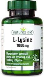 Nature's Aid L-Lysine 1000mg 60 Tablets